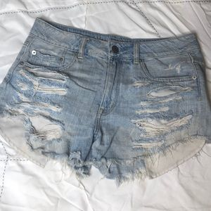 Hi-rise festival distressed shorts AA